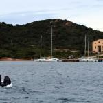 ausflug mit dem dingi (kleines boot, meist aufblasbar)